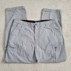 "Chaps Cargo Pants 38"" x 32"" Men's Gray Flat Front"